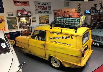 The famous three-wheel Reliant Regal van that Del Boy drove in 'Only Fools and Horses'