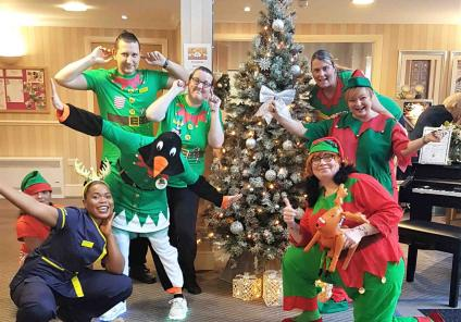 Cookridge Court's elves are in the festive spirit