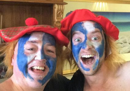 Highlands Care Home enjoyed a traditional Haggis lunch in honour of two of our residents being Scottish. Receptionist Darren and Carer Matt donned their Braveheart-style tartan outfits and provided entertainment!