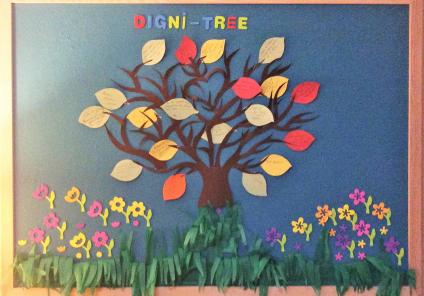 Our wonderful 'digni-tree' shows what dignity means to us