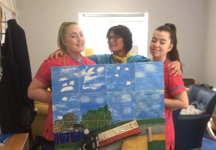 artwork at Elm Bank Care Home in Kettering