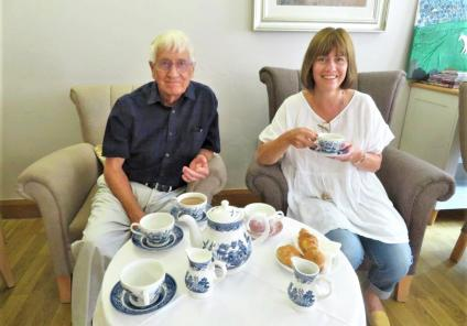 westbury court care home in wiltshire launch their chatty cafe