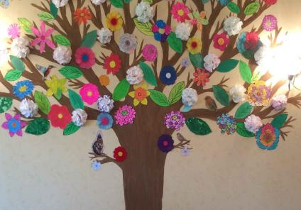 artwork at Hall Park Care Home in Nottinghamshire