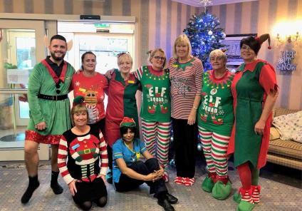 The team at Hall Park are dressed to impress and raise money for the cause!