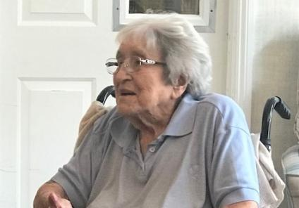 Hempton Field Care Home, Oxfordshire-Resident Peggy enjoys clapping along to the music