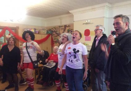 Henleigh Hall Care Home, Sheffield. Taking part in our singalong - between residents, their families and team members we managed to keep the singing going for the whole morning!