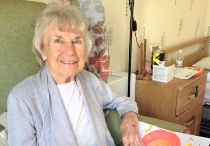 Henleigh Hall Care Home, Sheffield-Rosemary loved receiving the children's pictures
