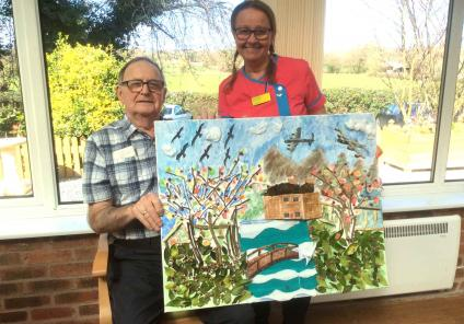 Artwork at Highfields Care Home in Edingley