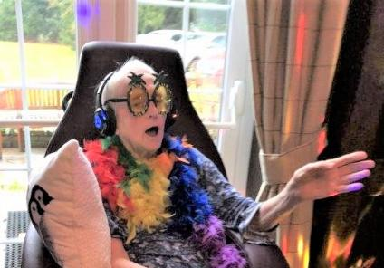 Hungerford Care Home, Berkshire-Resident Sylvia, our singing and dancing queen!
