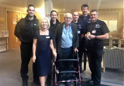 General Manager Karen Francis and resident John enjoyed spending the morning with the West Yorkshire Fire & rescue team