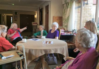 Emberbrook Care Home in Thames Dutton solved the mystery of missing Magic Moments Club Co-ordinator, Claire. Residents and team members discussing the evidence and accusing their suspects of the crime!
