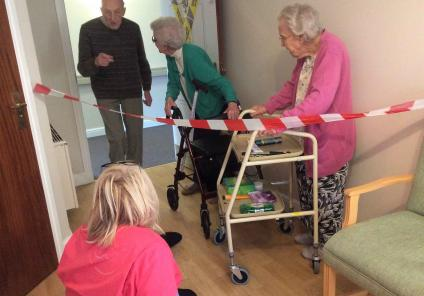 Emberbrook Care Home in Thames Dutton solved the mystery of missing Magic Moments Club Co-ordinator, Claire. Residents Fred, Joyce and Lily discover Claire at the crime scene and begin their investigations