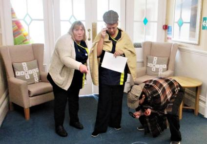 The Grange Care Home in Colne solved a murder mystery to determine what happened to the strange body found at the bottom of the stairs. Team member detectives were on hand to thoroughly investigate the scene!