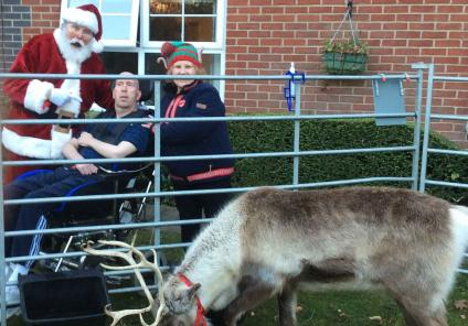 Claremont Parkway enjoy a visit from Father Christmas and his reindeer at their Christmas fair!