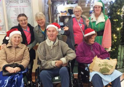 Claremont Parkway Care Home, Northamptonshire. We enjoyed a festive trip to Weston Favell shopping centre for some Christmas shopping!