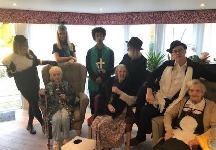 Mill House Care Home in Witney had a live-action game of cluedo solving 'Who stole the cake?'. Team members dressed up as characters and residents solved the clues!