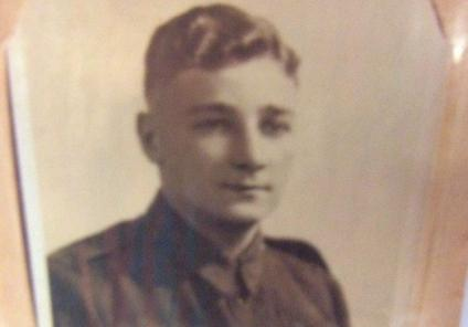 Eric in his uniform as a young man