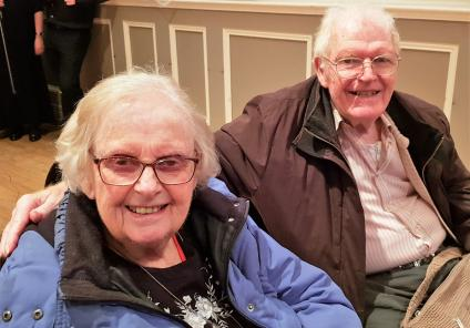 Ivybank House Care Home, Bath. Residents Margaret and Cliff know the secret to a long and happy marriage