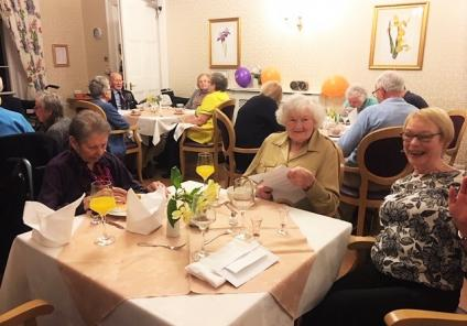 Ross Court Care Home in Ross-on-Wye enjoyed a Murder Mystery Dinner Party, solving who poisoned the butler! Carer Josie enjoyed playing one of the characters, sitting with residents Betty and Edith