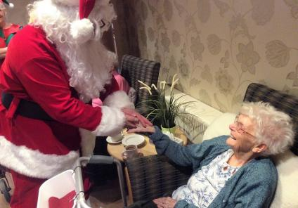 Resident Jean was delighted to meet Father Christmas again