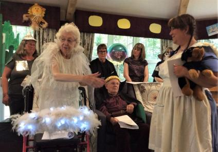 Lawton Manor Care Home, Staffordshire-Glinda and Dorothy take centre stage