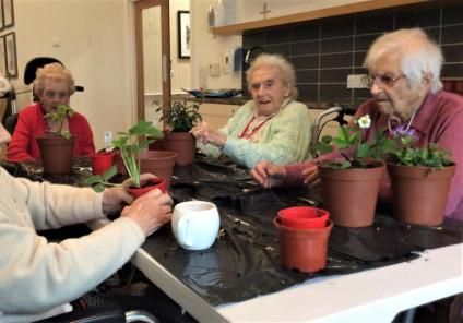 Lawton Manor Care Home, Staffordshire-Having a great time getting our hands dirty!