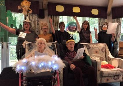 Lawton Manor Care Home, Staffordshire-Our wonderful cast performing The Wizard of Oz