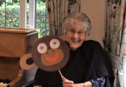 Lawton Manor Care Home, Staffordshire-Resident Jane played the flying monkey!