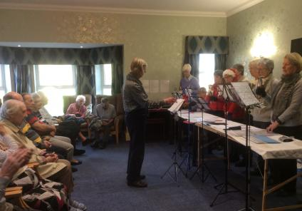We enjoyed clapping and singing along to the music