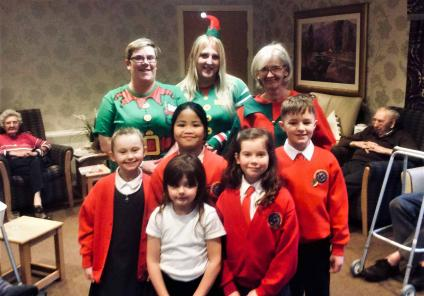 Leeming Bar Grange have so far raised £50 and enjoyed a visit from the local school and residents made 'elfie sticks'!