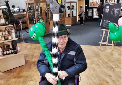 Resident George having a wild time in the zoo's gift shop
