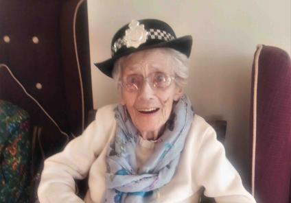 Crabwall Hall Care Home in Chester had their very own murder mystery followed by a session with Cheshire Police. Resident Mary tries on the police hat