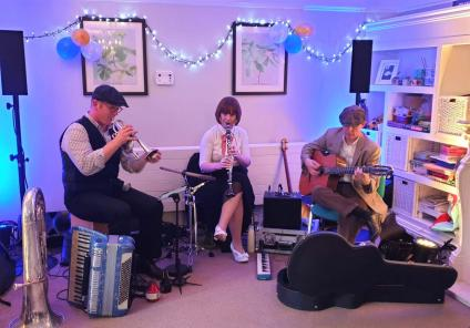 Meyrick Rise Care Home, Dorset-'The Pocket Orchestra' played live music at our tea dance
