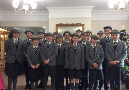 The pupils from Talbot House Preparatory School who came to sing for us