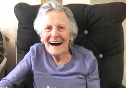 Houndswood House care home resident celebrates her birthday