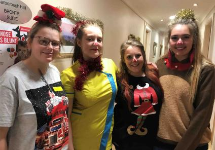 The team at Scarborough Hall enjoyed getting dressed for charity up on Christmas Jumper Day