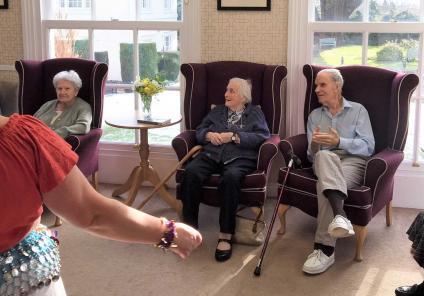 Residents Pam, Peter and Barbara enjoying the display