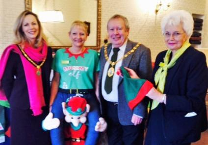 Ross Court raised a total of £175 for the charity and were joined by the Mayor of Ross for coffee and mince pies this Elf Day!