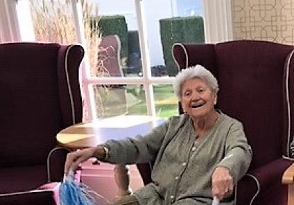 Resident Pam enjoying an energising start to 2019