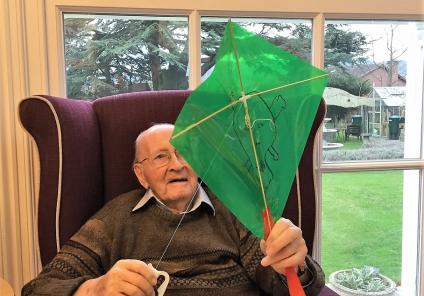 Resident Peter Aston is hoping for a windy day so he can try out his new kite