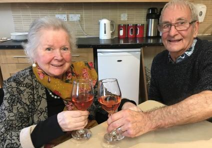 Scarborough Hall Care Home, North Yorkshire. Residents Ann-Marie and Gordon who recently got engaged after meeting at our home