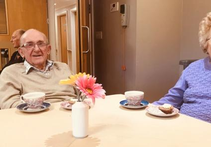 Residents Ron and Mavis at our Remembrance Day afternoon tea