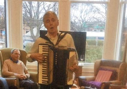 St Margarets enjoyed all the traditional festivities. Here is Neil performing some traditional songs on his accordion