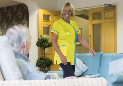 Senior Carer with resident