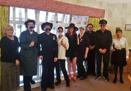 Garioch Care Home in Inverurie celebrated 70 years of Cluedo with their own story: Murder at Mystery Manor. Team members dressed up as all the characters and residents investigated who murdered Lord Healthcliff
