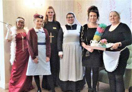 Highfields Care Home in Edingley solved the live-action mystery of 'who stole the family silver'. Team members dressed up as all the characters and acted out scenes for residents to solve the clues!