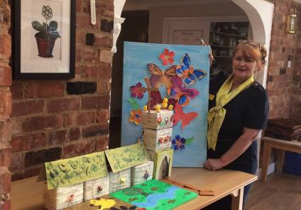 artwork at Tewkesbury Fields Care Home in Gloucestershire