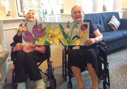 artwork at The Granby Care Home in Harrogate