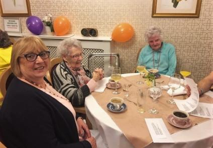 Ross Court Care Home in Ross-on-Wye enjoyed a Murder Mystery Dinner Party, solving who poisoned the butler! Residents Thelma and Eleanor with their guests working out the mystery from the evidence