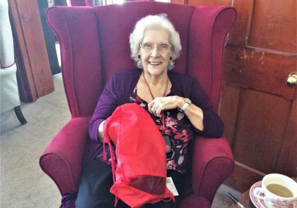 Glebefields Care Home in Banbury spent the day working out who stole the home manager's tiara by completing sensory activities to find the clues! Resident Vera solves a clue by working out 'whats in the bag?'